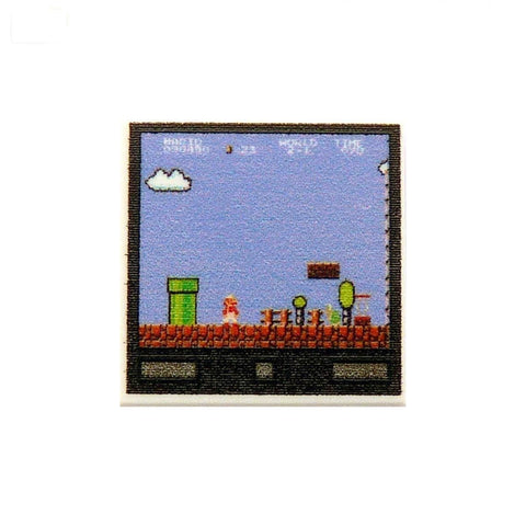Retro Game Screen Custom LEGO Tile