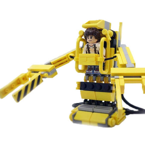 ripley custom lego minfigure and powerloader build aliens