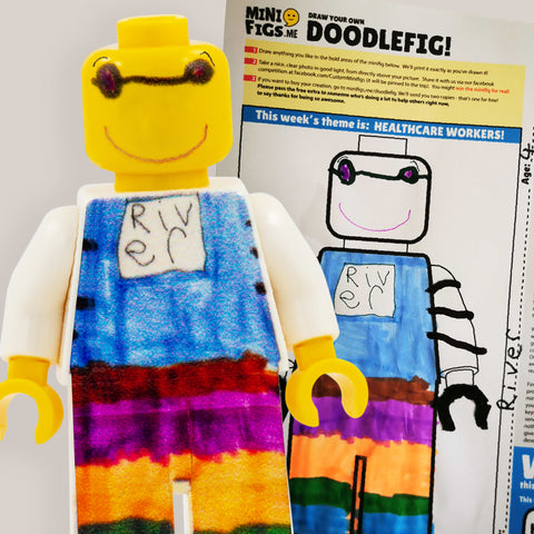 Doodle Your Own Key Worker (Draw Your Own!) - Custom Printed LEGO Minifigure