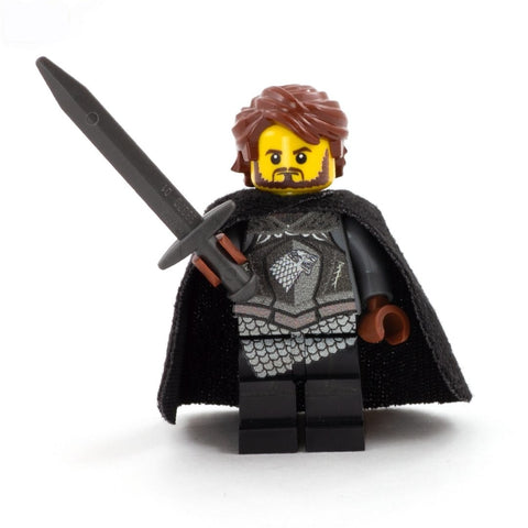 robb stark, custom lego minifigure, game of thrones