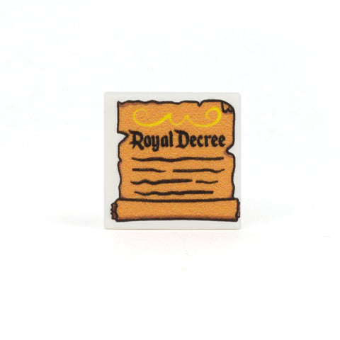 Royal Decree - Custom Design LEGO Tile