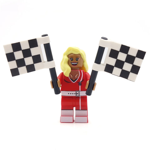 Drag Superstar (in drag) - Custom Design LEGO Minifigure, Drag Race