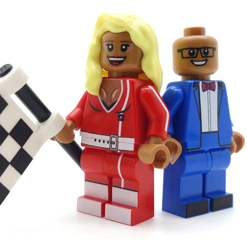 RuPaul, Drag Superstar (in drag and not in drag) - Custom LEGO Minifigures, Drag Race