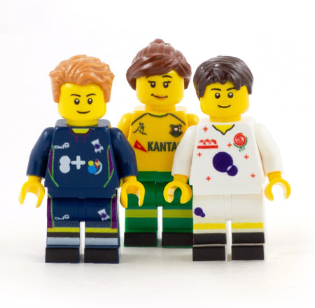 Personalised Rugby Kit (Any Team of your Choice) and Head - Custom Design Minifigure
