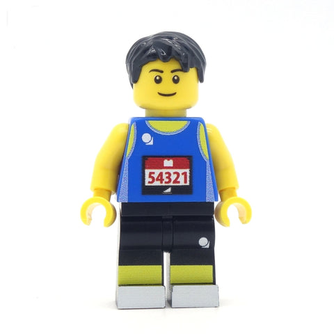Personalised Marathon Runner Custom LEGO Minifigure