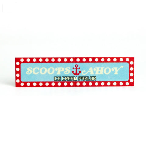 Scoops Ahoy Sign - Custom Design Tile