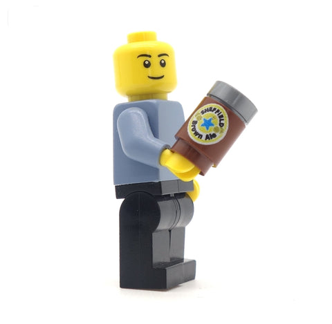 Can of Sheffield Brown Ale - Custom Printed LEGO Brick