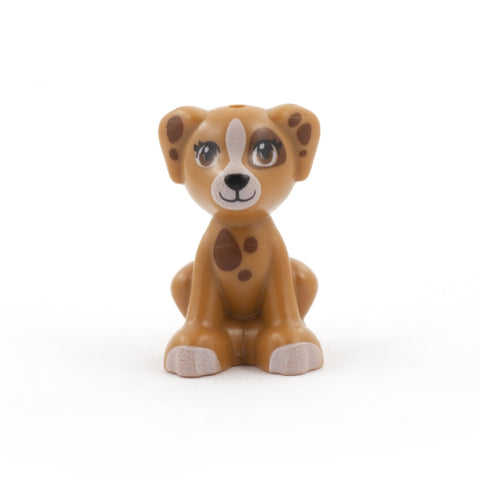 Medium Brown LEGO Dog with Patches (Sitting)