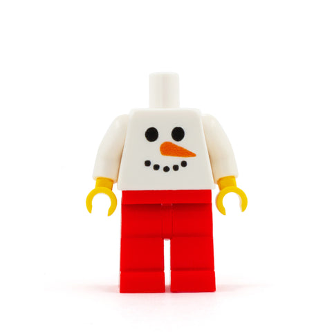 Snowman Face Personalised Minifigure - Custom Design Minifigure