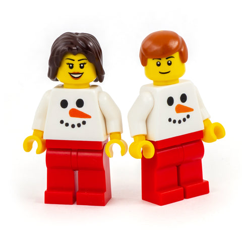 Snowman Face Personalised Minifigure - Custom Design LEGO Minifigure