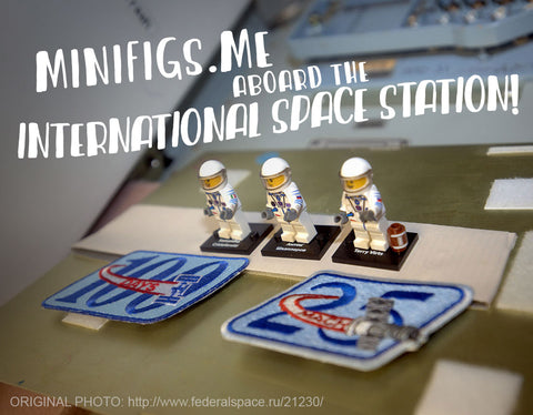 Tim Peake in White Space Suit - Custom Design Minifigure