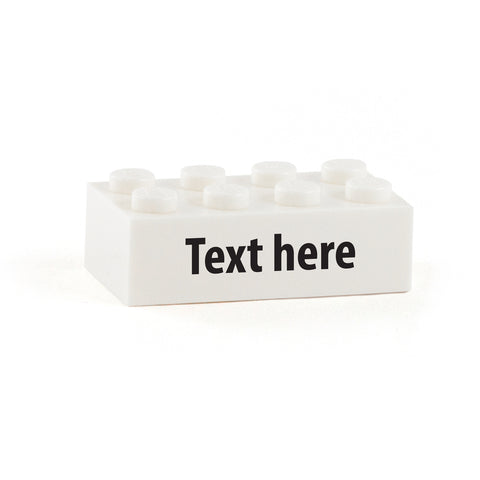 Your Message on a Custom Printed 2 x 4 Brick (Choice of Fonts)