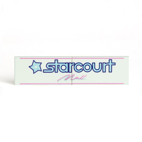 Starcourt Mall Sign - Custom Printed LEGO Tile