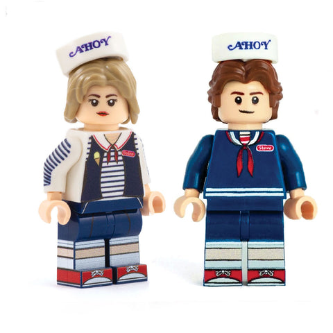 Robin and Steve (Scoops Ahoy, Stranger Things) - Custom Design Minifigure