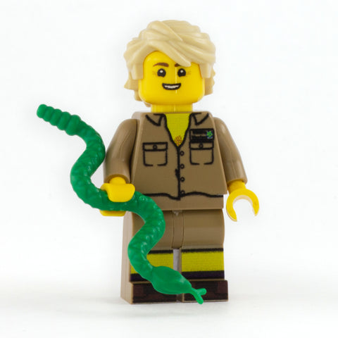 Steve Irwin - Custom LEGO Minifigure and Display