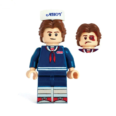 Steve (Scoops Ahoy, Stranger Things) - Custom Design Minifigure