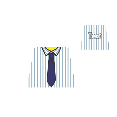 Stripey Shirt (Various Colours) and Tie - Custom Designed LEGO Torso