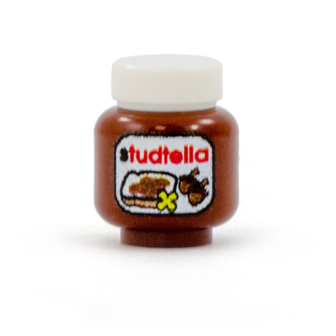 LEGO nutella, jar - custom printed minifigure accessory, food and drink