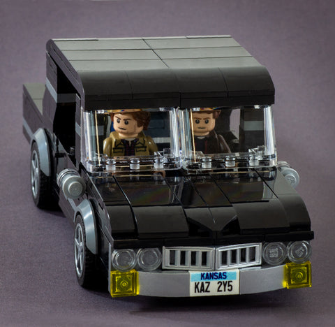 Demon Hunters from Supernatural - Custom Design LEGO Minifigure Set and Mustang Car