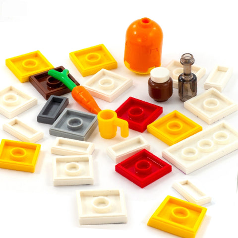 Surprise Tiles and Accessories and a Brickfig for your Advent Calendar - Custom Printed LEGO Tiles and LEGO Accessories