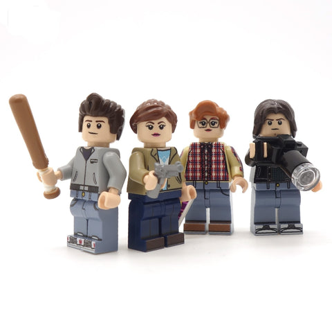 Stranger Things, The Teenagers - Custom LEGO Minifigure Set, Steve, Nancy, Bard, Jonathan