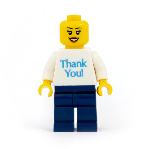 Thank You Personalised Minifigure - Custom Design Minifigure