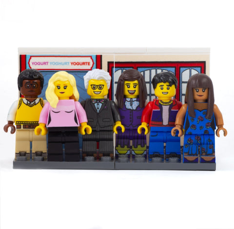 the Good Place, What the Fork (Chidi, Eleanor, Michael, Jason, Janet, Tahani) - Custom Design LEGO Minifigure Set