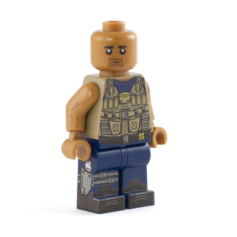 Hobbs, Street Car Racer, The Fast and the Furious, The Rock - Custom Design LEGO Minifigure