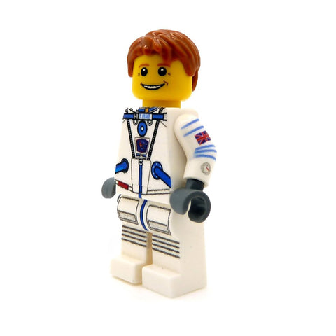 Tim Peake in White Space Suit - Custom Design LEGO Minifigure