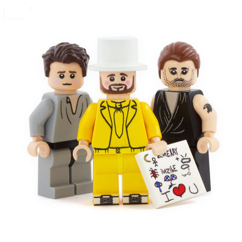 The Nightman Cometh (Charlie, Mac and Dennis) - Custom Design Minifigure Set