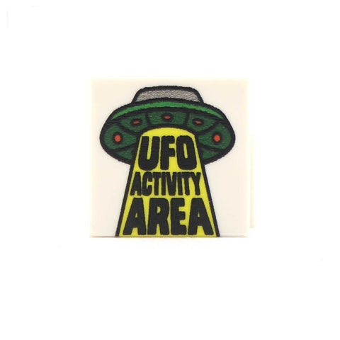 UFO Activity Area - Custom Printed LEGO Tiles