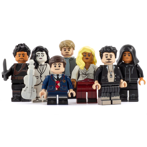 Brickella Academy Family (Set of 7 Minifigures) - Custom Design Minifigure Set