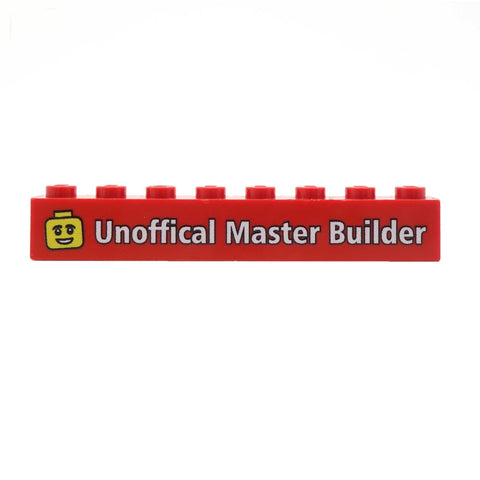 100 x Custom Design 1 x 8 Brick (Choice of Colours) with a Name, Message and / or Image - Custom LEGO Brick
