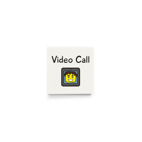 Video Call (Activity Tile for Visual Timetable) - CUSTOM DESIGN LEGO TILE