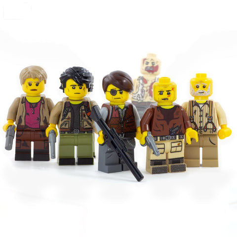 Zombie Survival Crew, Walking Dead (Custom Designed Set 2) - Custom LEGO Minifigures