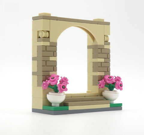 Wedding Arch Minibuild - Custom LEGO Minifigure Display