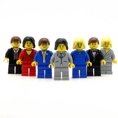 25 x Custom LEGO Wedding Guests Minifigure Favours