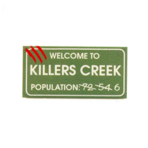 Killers Creek Sign - Custom Printed LEGO Tile