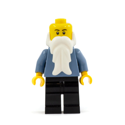 Long White LEGO Minifigure Beard