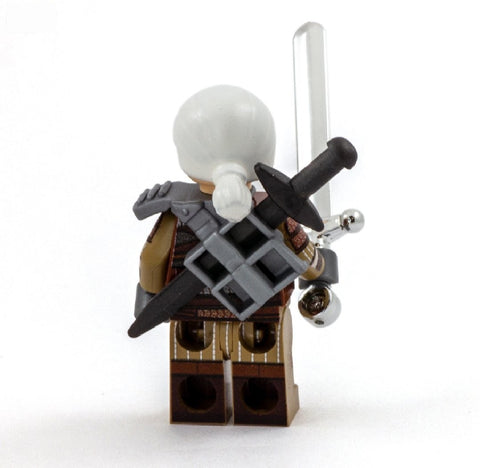 Geralt of Brickia (video game version) - Custom Design Minifigure