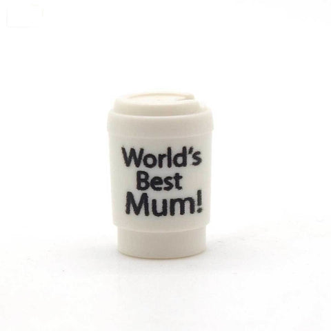 World's Best Mum Cup - Custom Printed LEGO Piece