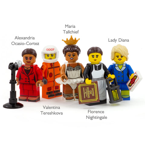 Inspirational Women (IWD 2020) - Custom Design LEGO Minifigure Set