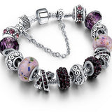 Murano Glass And Crystal Charm Bracelet