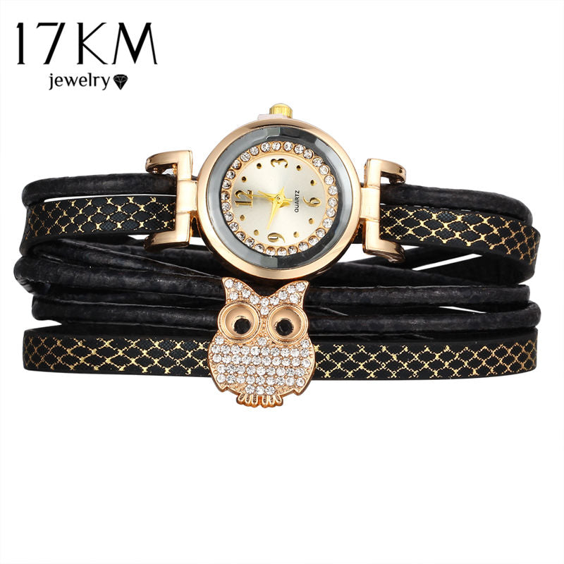 Crystal leather bracelet for women.
