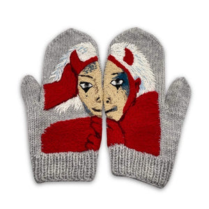$ad Girl Knitted Mitten