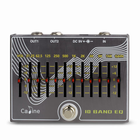 Caline CP-81 10 Band EQ with Volume and Gain Equalizer Pedal