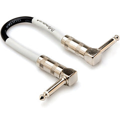 "Hosa 6 Inch 1/4"" Right-Angle Effect Patch Cable"