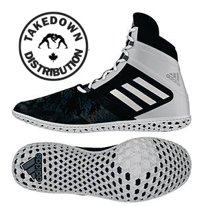 Adidas Shoe Wrestling Impact Black -Silver -White - Takedown Distribution