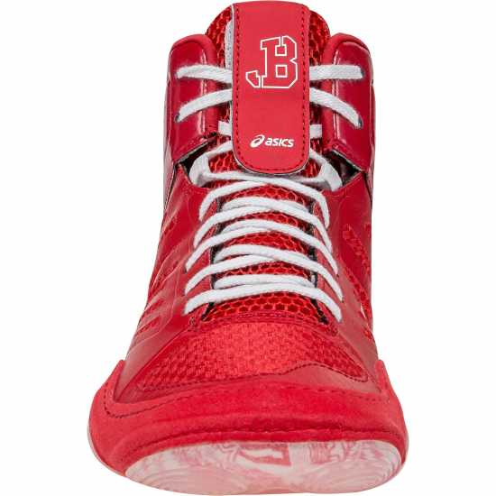 cheaper 256ec 5df3a Asics Shoe Wrestling JB Elite III Classic Red- White - Takedown Distribution