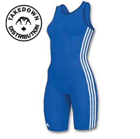 aa9e360172e5 Adidas Womens 3 Stripe Singlet Blue - Takedown Distribution
